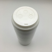 Disposable plastic PS lids for coffee cup with blister packaging